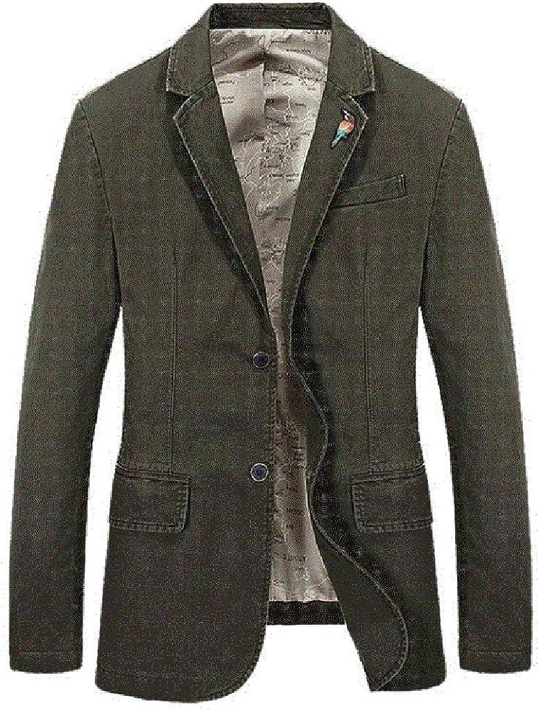 Sylar Abrigos Hombre de Vestir Invierno Blazer de Pana para Hombre Color Sólido Chaquetas de Traje Slim Fit Blazer Hombre Slim Fit Chaqueta Blazer Casual con Botón