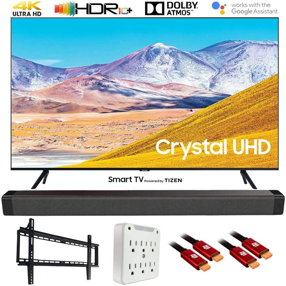 Samsung TU8000 4K Ultra HD Smart TV LED (Modelo 2020) con Barra de Sonido Deco Gear Home Theater, Kit de Accesorios de Montaje en Pared y Cable HDMI: Amazon.es: Electrónica