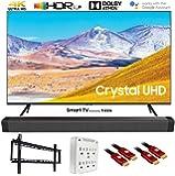 "SAMSUNG UN55TU8000 55"" 4K Ultra HD Smart LED TV (2020 Model) w/Deco Gear Soundbar Bundle"