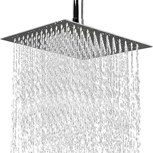 Wall Mounted Designer Shower Head Chrome Finish Waterfall Brass Mirror Gloss