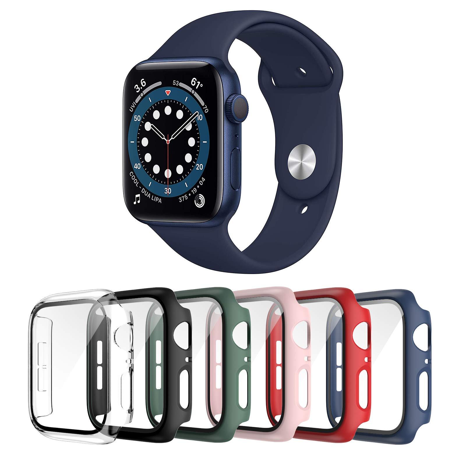 Landhoo 6 Pack case for Apple Watch Series 3 Series 2 38mm