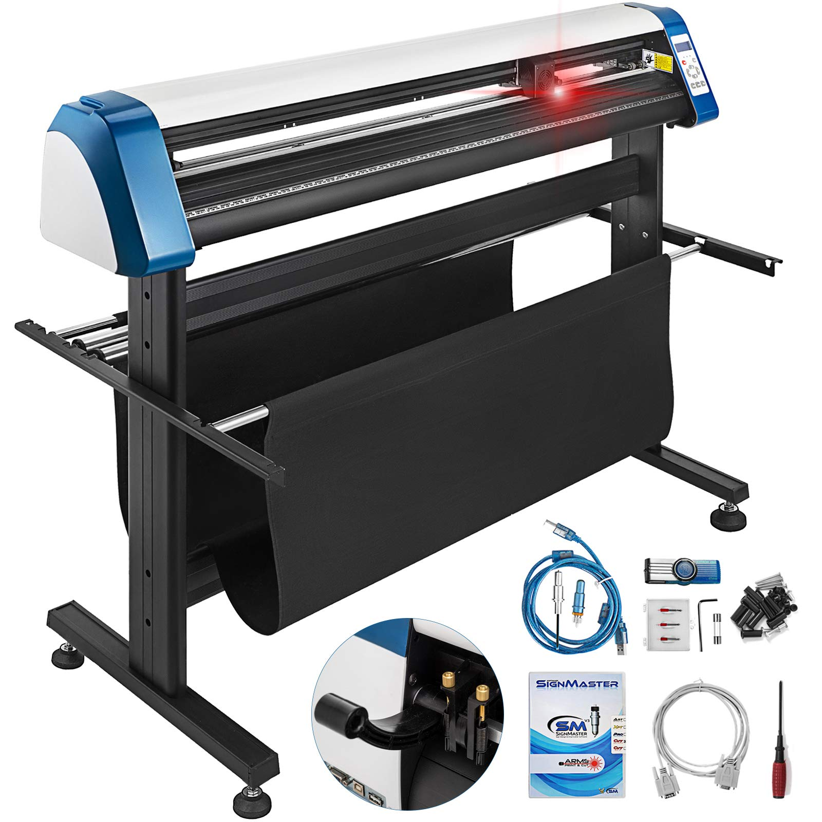 VEVOR Vinyl Cutter 53 Inch Plotter Machine Automatic Paper Feed Vinyl Cutter Plotter Speed Adjustable Sign Cutting with Floor Stand Signmaster Software by VEVOR