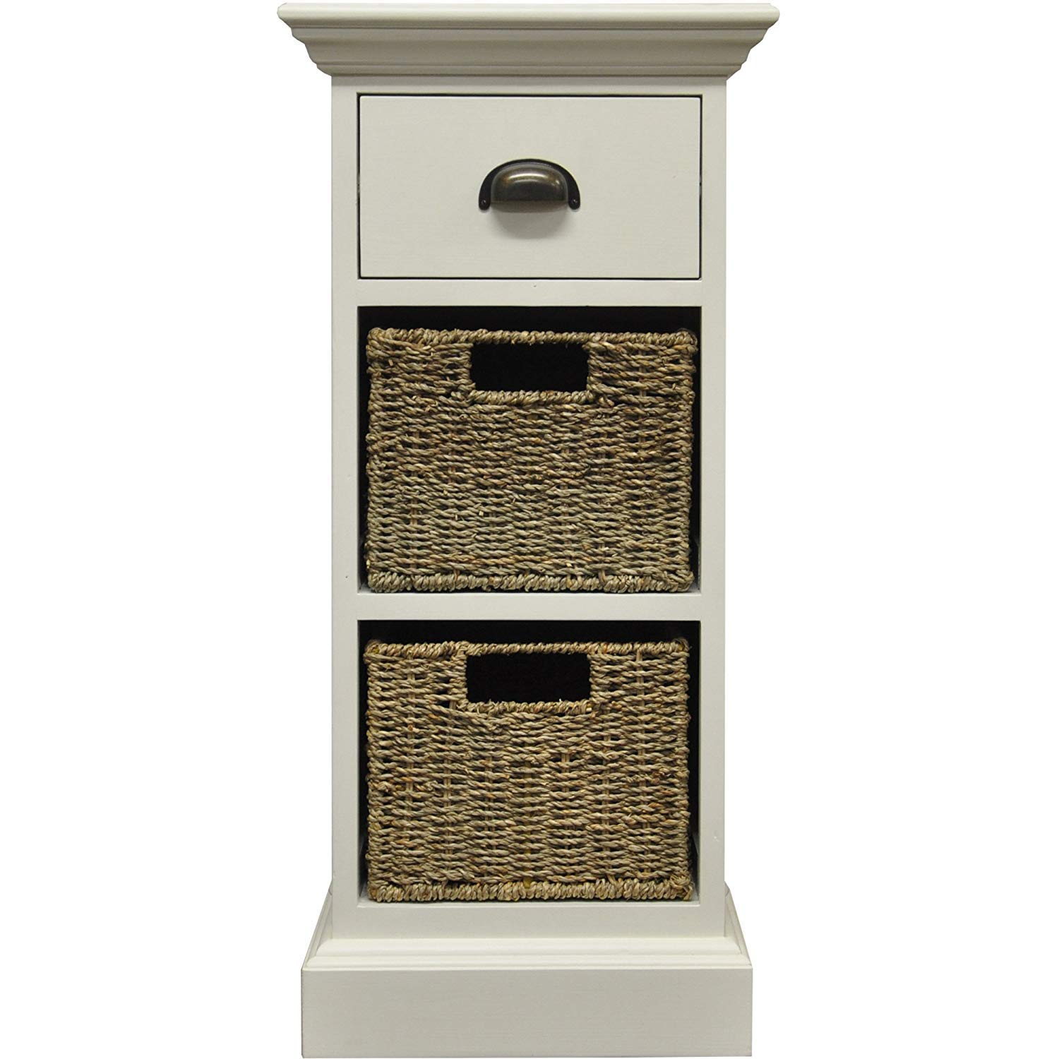 JTF Mega Discount Warehouse Wiltshire 1 Drawer + 2 Wicker Basket Unit