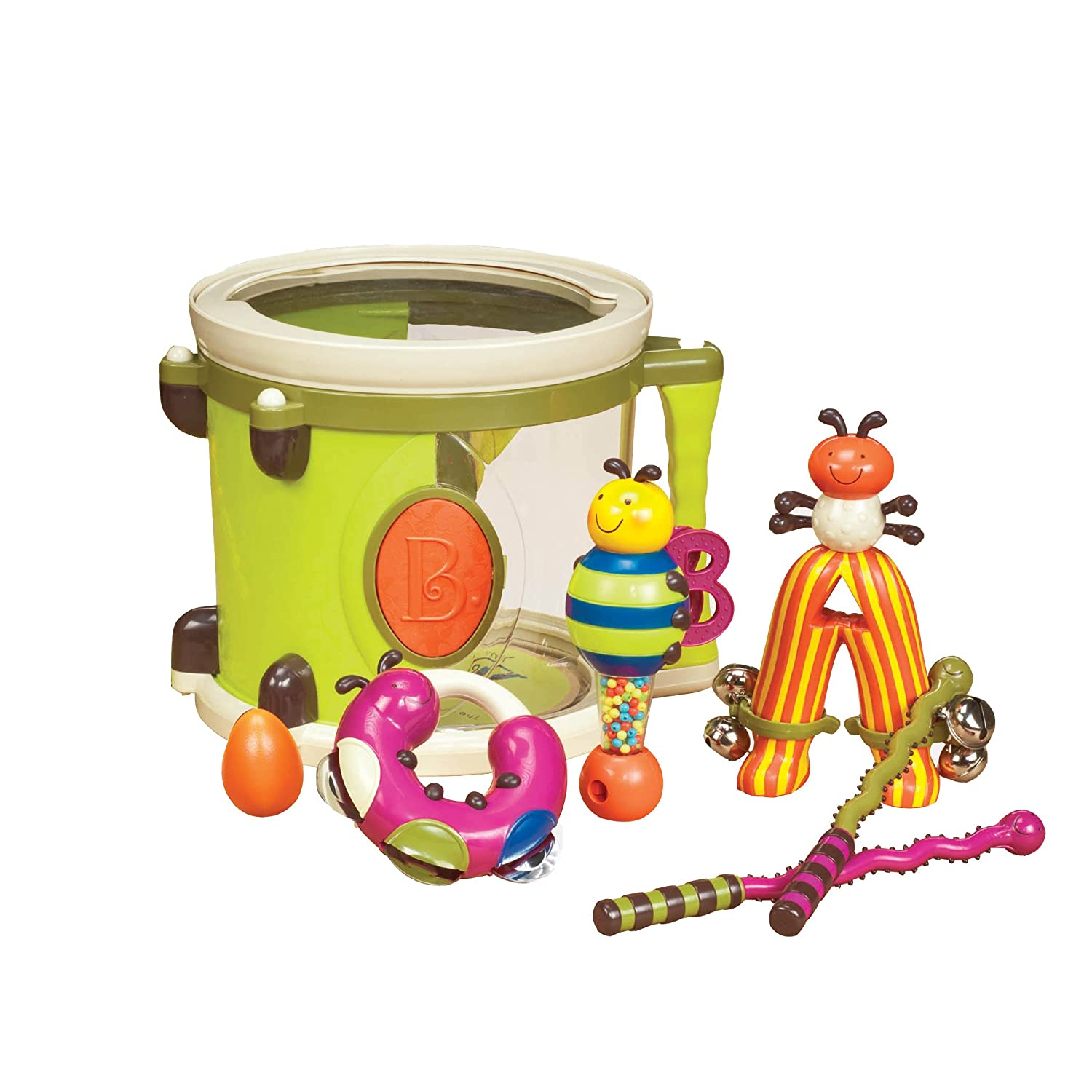 Amazon B Parum Pum Pum Drum Lime Toys & Games