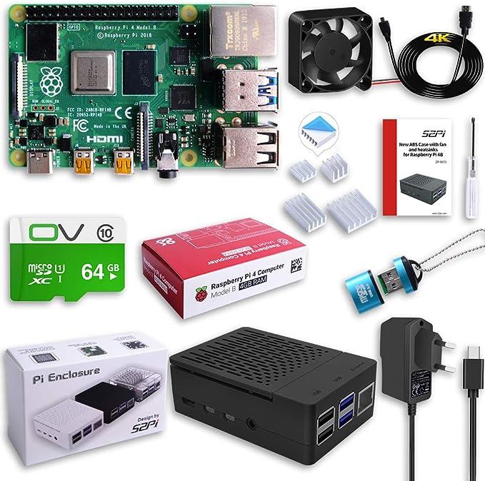 MakerFun Raspberry Pi 4 Modelo B 4 GB Ultimate Kit con Tarjeta ...