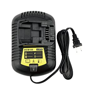 Biswaye 12V MAX and 20V MAX Replacement Li-Ion Battery Charger for Dewalt Li-Ion charger DCB101 DCB115 DCB107 DCB105 Dewalt Battery DCB205 DCB203 DCB204 DCB206 DCB201 DCB120 DCB127
