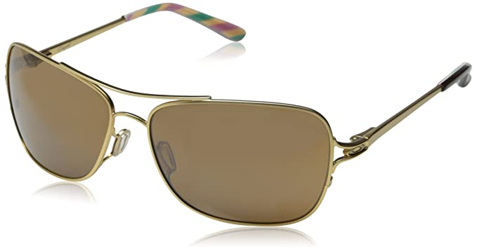 27c47502000 Oakley Women s Conquest OO4101-03 Iridium Aviator Sunglasses