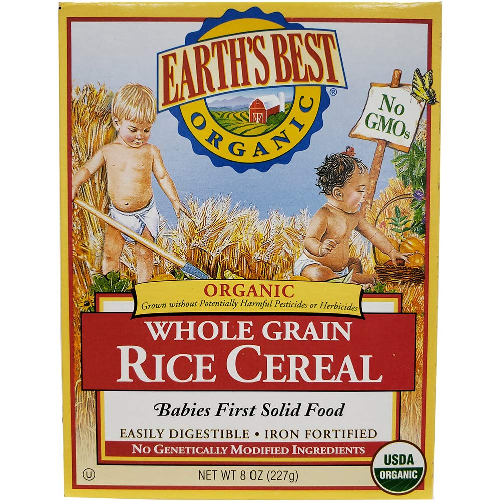 (Pack of 12) Earth's Best Organic Brown Rice Cereal 8oz