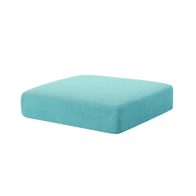Hokway Couch Cushion Slipcovers Sofa Cushion Covers Jacquard Stretch Cushion Protectors(Smoky Blue,Chair Cushion)
