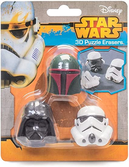 Star Wars Geek 3D Rompecabezas Goma Gomas de borrar: Amazon.es ...