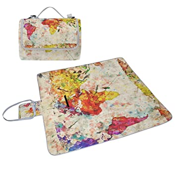 Coosun vintage old grunge world map picnic blanket tote handy mat coosun vintage old grunge world map picnic blanket tote handy mat mildew resistant and waterproof camping gumiabroncs Images