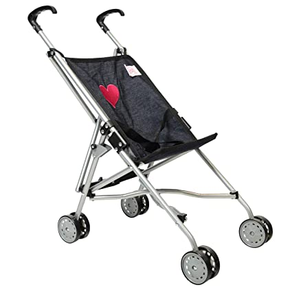 8b1c2a56c Amazon.com: My First Umbrella Doll Stroller in Denim for Toddler: Toys &  Games