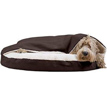Amazon Com Furhaven Pet Dog Bed Orthopedic Round Faux Sheepskin