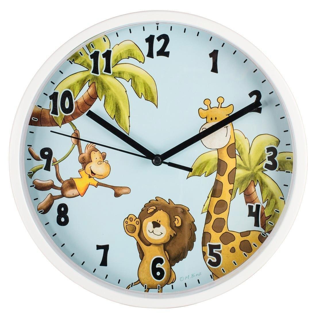 Hama Safari Childrens Wall Clock Blue 275 X 237 X 45 Cm 00176920