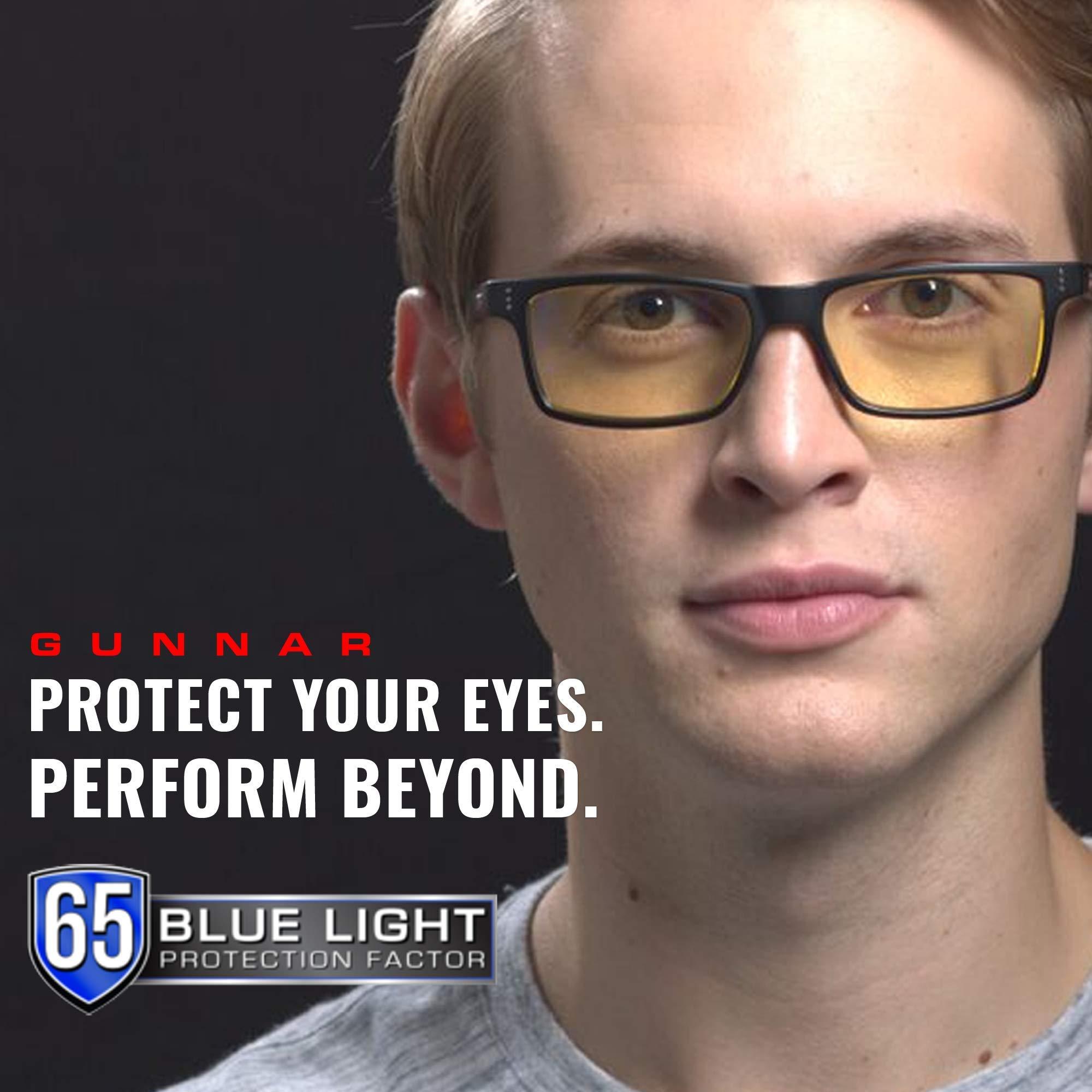 GUNNAR Gaming and Computer Eyewear /Intercept, Amber Tint - Patented Lens, Reduce Digital Eye Strain, Block 65% of Harmful Blue Light by Gunnar Optiks (Image #6)