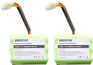 Areotek 7.2V 4000mAh Battery for Neato XV-11 XV-12 XV-14 XV-15 XV-21 XV-25, XV Essential, XV Signature Pro Robotic Vacuum Cleaners Compatible with Neato 945-0006 945-0024 945-0005 205-0001 (2 Pack)