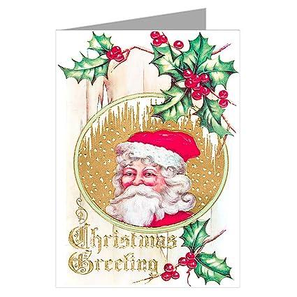 Amazon Com Victorian Santa Wishing You A Merry Christmas