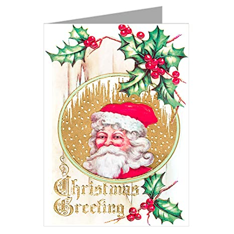 victorian santa wishing you a merry christmas and happy new year holiday vintage note cards boxed