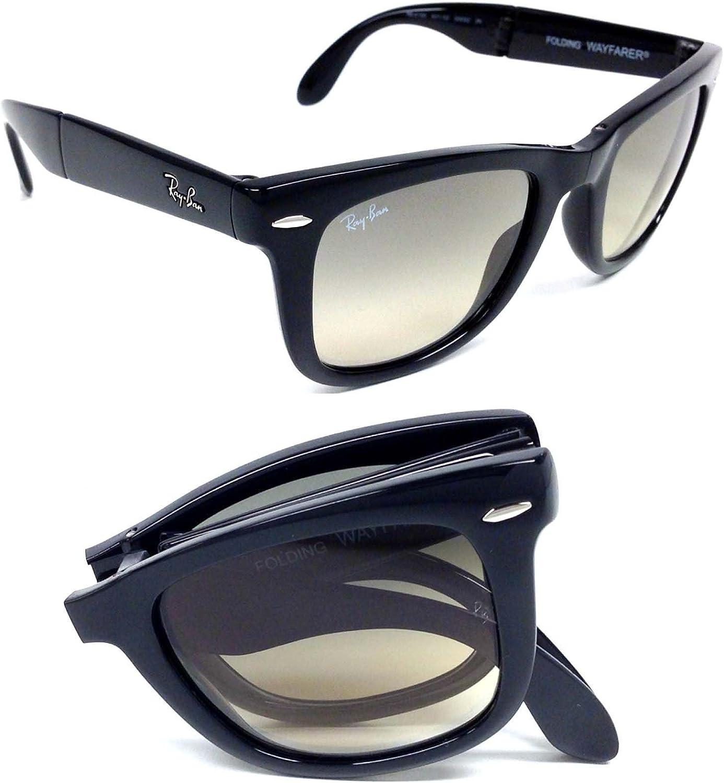 Ray-Ban RB4105 Folding Wayfarer - Gafas de sol, unisex, color nero, lenti grigio sfumato, talla 50 mm: Amazon.es: Ropa y accesorios
