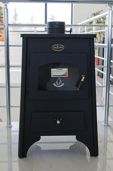 Estufa de leña chimenea de madera de alta eficiencia para calefacción prometey directa Ayfa 8 kW