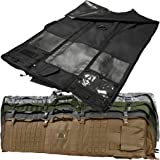"""Tactical Hunting Rifle Case Shooting Mat Slip Resistant Padded Panels MOLLE Webbing Range Compartment 66"""" L X 35"""" W"""