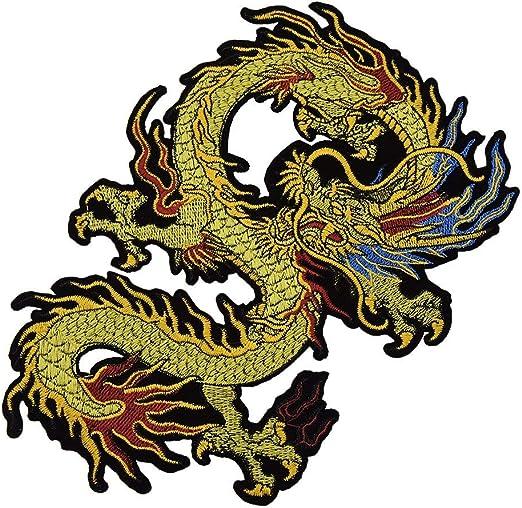 BIGBIGWORLD - Parche Bordado de dragón Chino para Ropa y Bolsillos ...