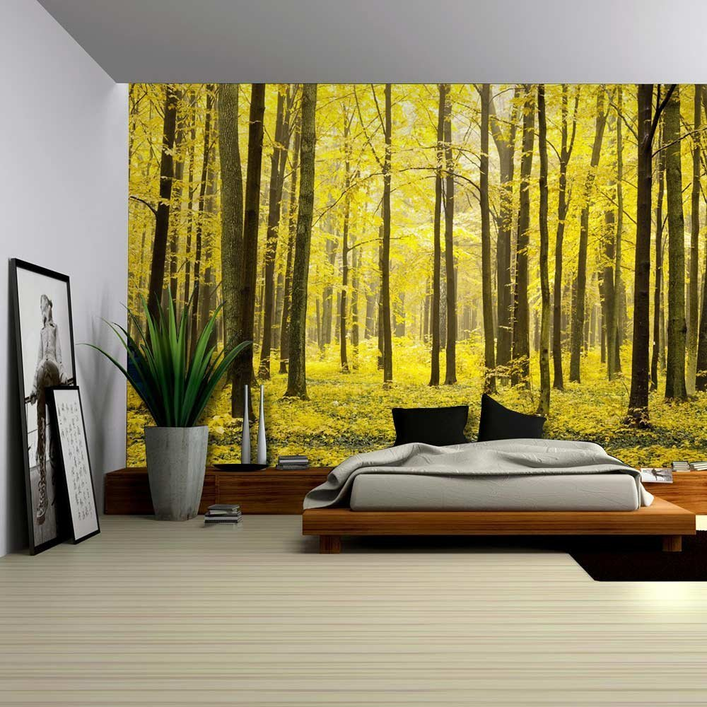 The Depths of an Autumn Forest Wall Mural Wall Murals Wall26