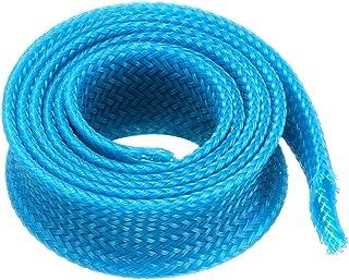 sourcingmap® 12mm dia stretto PET intrecciato guaina espandibile rivestimento filo blu guaina 1M