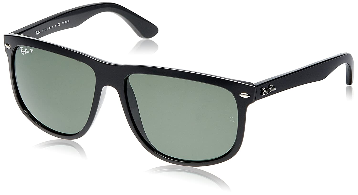 f2ad3d7f806fd5 Ray-Ban Aviator Black Frame Polarized Women's Lens Sunglasses (RB4147-601/58/Green):  Ray-Ban: Amazon.in: Clothing & Accessories