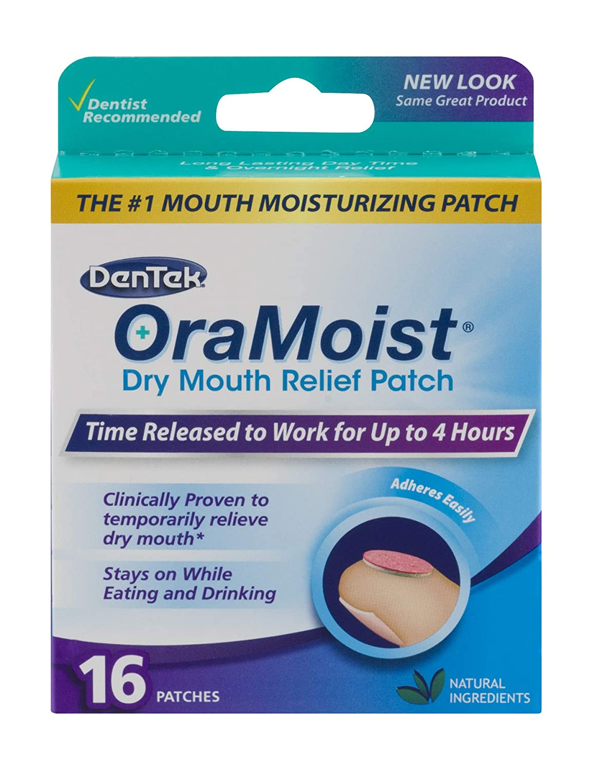 Oramoist Dry Mouth Moisturizing Patch, 16 Count DenTek Oral Care 00039001806A