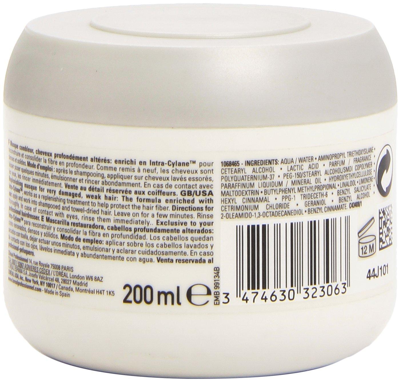 LOréal Professionnel Expert - Fiberceutic Intra-Cylane - Mascarilla restauradora para cabellos alterados - 200 ml: Amazon.es: Belleza
