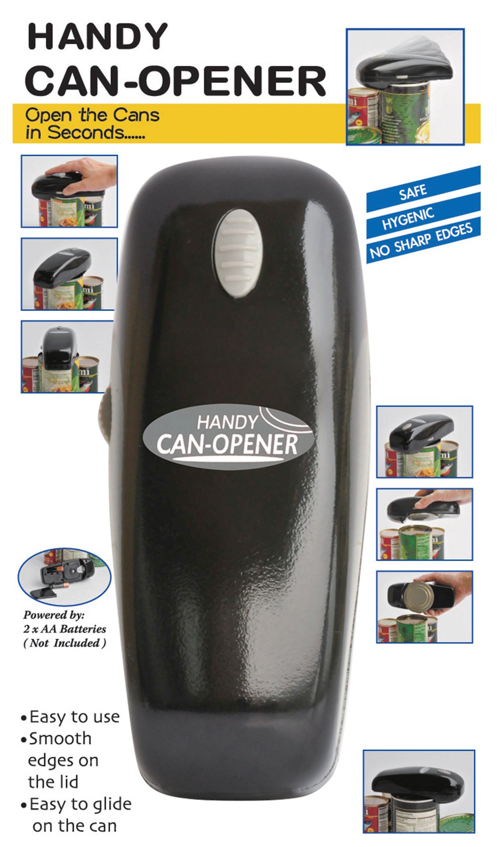 Gourmet Trends Handy Can Opener, Colors May Vary