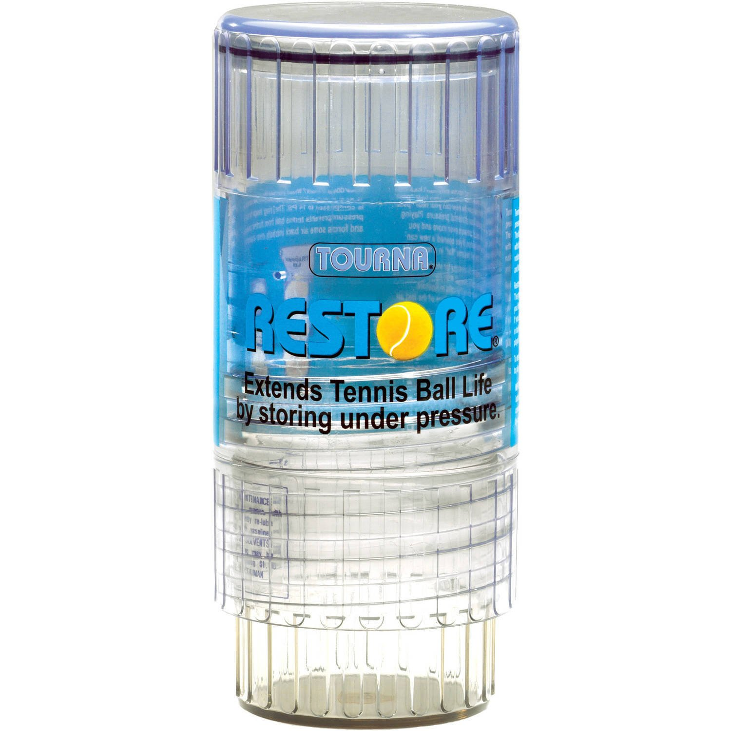 Simply Silver Container - Tourna Restore Tennis Ball Saver Container Re Pressurize & Extend Life Of Ball