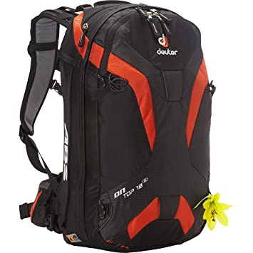 Mochila Deuter On Top ABS 18 SL chica black papaya: Amazon.es: Deportes y aire libre