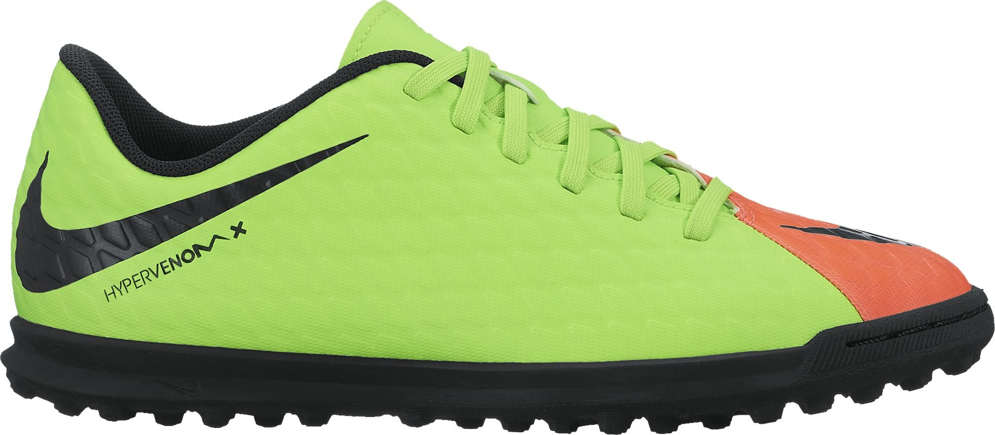 Nike JR Hypervenomx Phade III TF Shoes Electric Green/Black 5