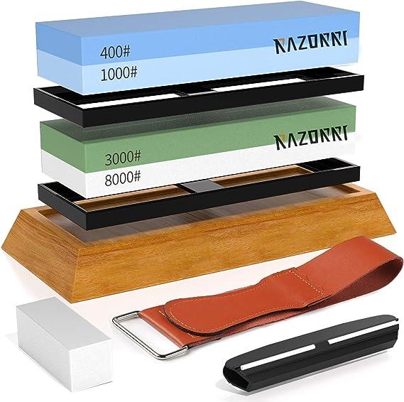 8 Messer RAZOR Schärfen feine Stone Schleifstein Abziehstein Polieren Spitzer 20