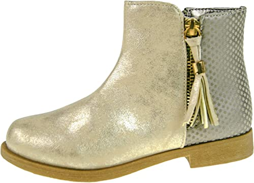 Buckle My Shoe Girls Boots in Gold (13