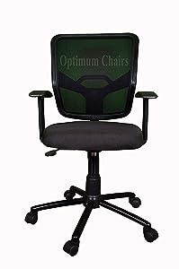 Optimum Metal Base Seat Height Adjustment System Ergonomic Mesh Office Chair (Black, 46.5x46.5x94 cm)