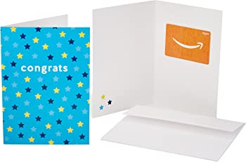 Amazon.com Gift Card for Any Amount in a Greeting Card - [Various Designs]