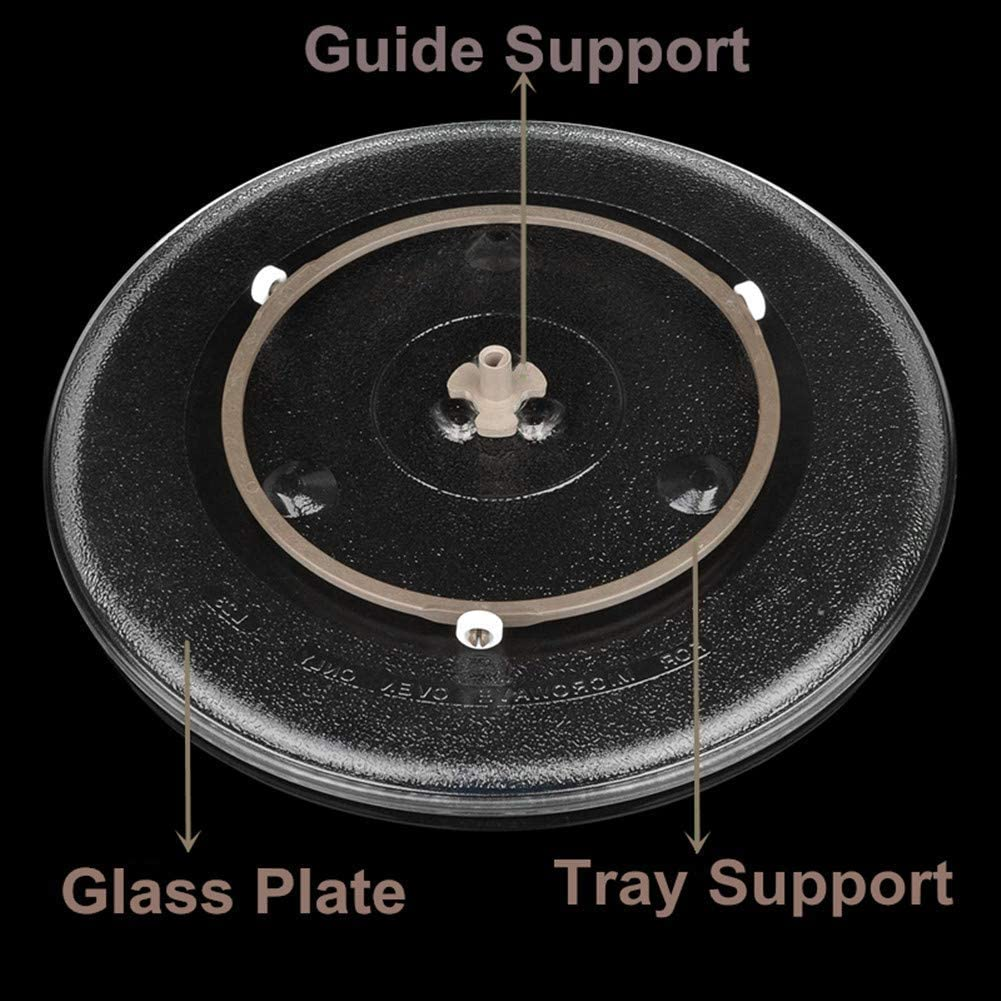 Microwave Turntable Ring Microwave Oven Rotating Roller Support Ring, Microwave Glass Plate Tray Wheel Ring(Large, 2 Pieces): Home Improvement