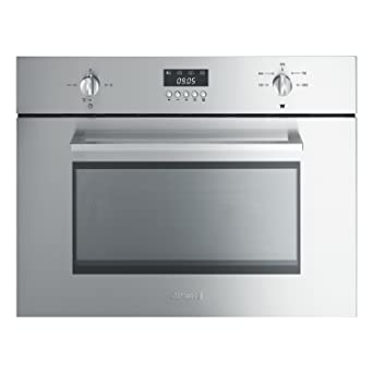 Smeg SC445MX Cucina 45cm High Microwave Oven With Grill Stainless ...