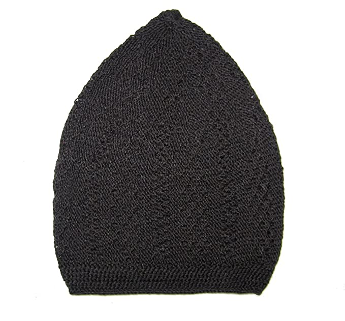 9ad08772253 Amazon.com  Kufi Cap For Men - Crocheted (Black)  Clothing