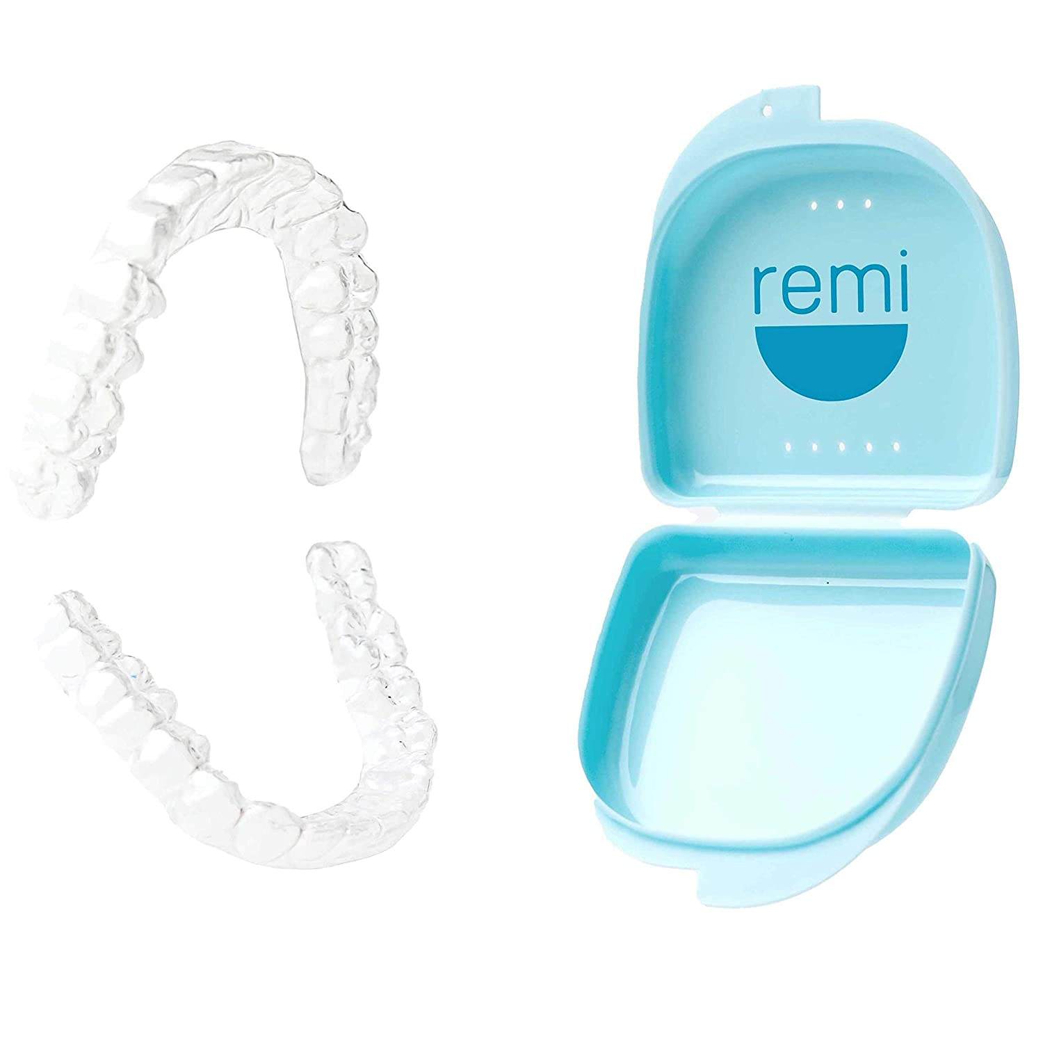Remi At-Home Custom Night Guard Kit - Create The Best Fitting Dental Grade Top And Bottom (2) Mouth Guards for Grinding Teeth (Bruxism) & TMJ Relief Night Guard