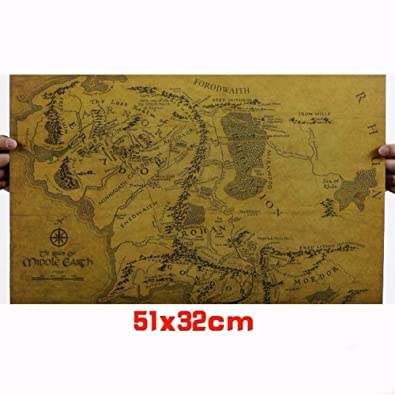 Lord Of The Rings Online World Map.Buy Lepakshi 1 Pc Of Kraft Paper The Lord Of The Rings Middle Earth
