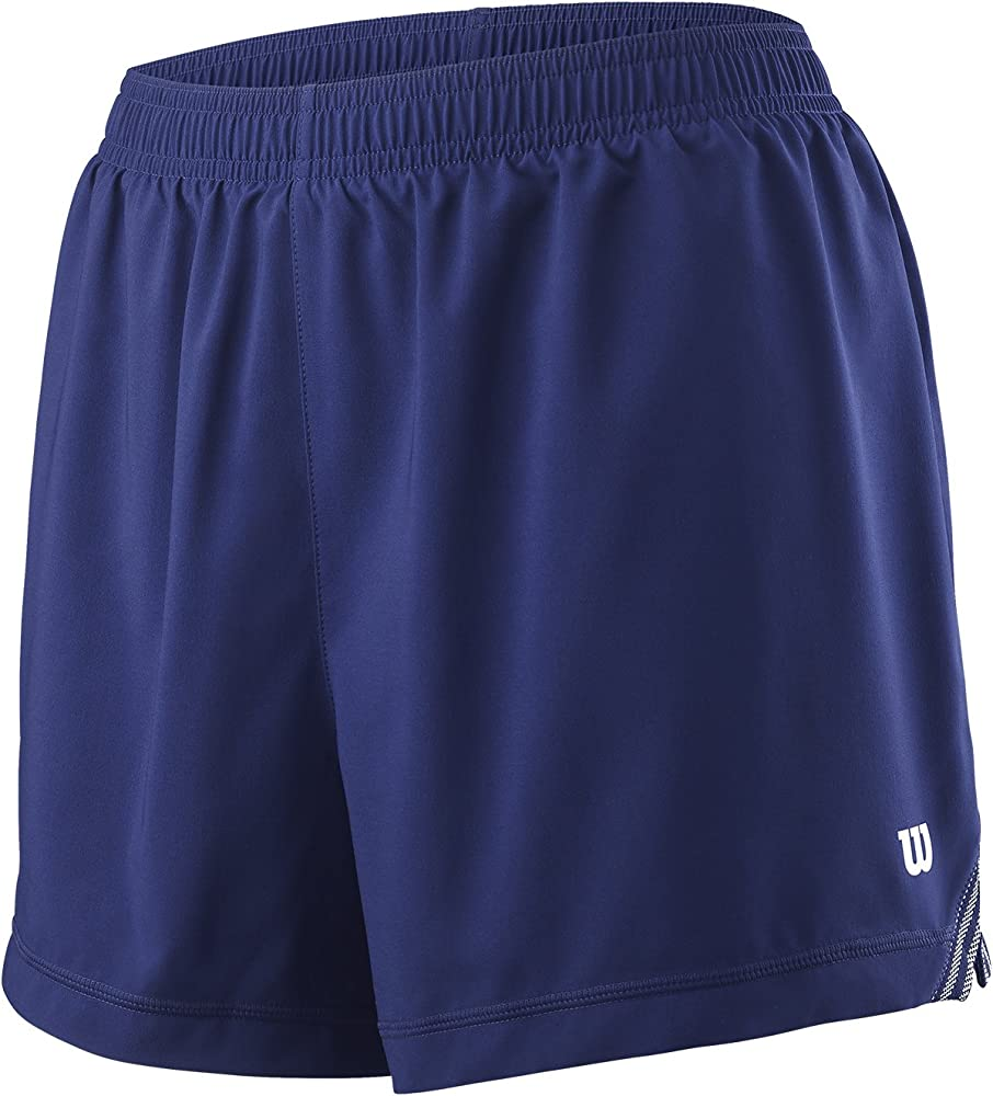 Wilson Pantalón corto de mujer, W Team 3.5 Short, Poliéster, Azul ...