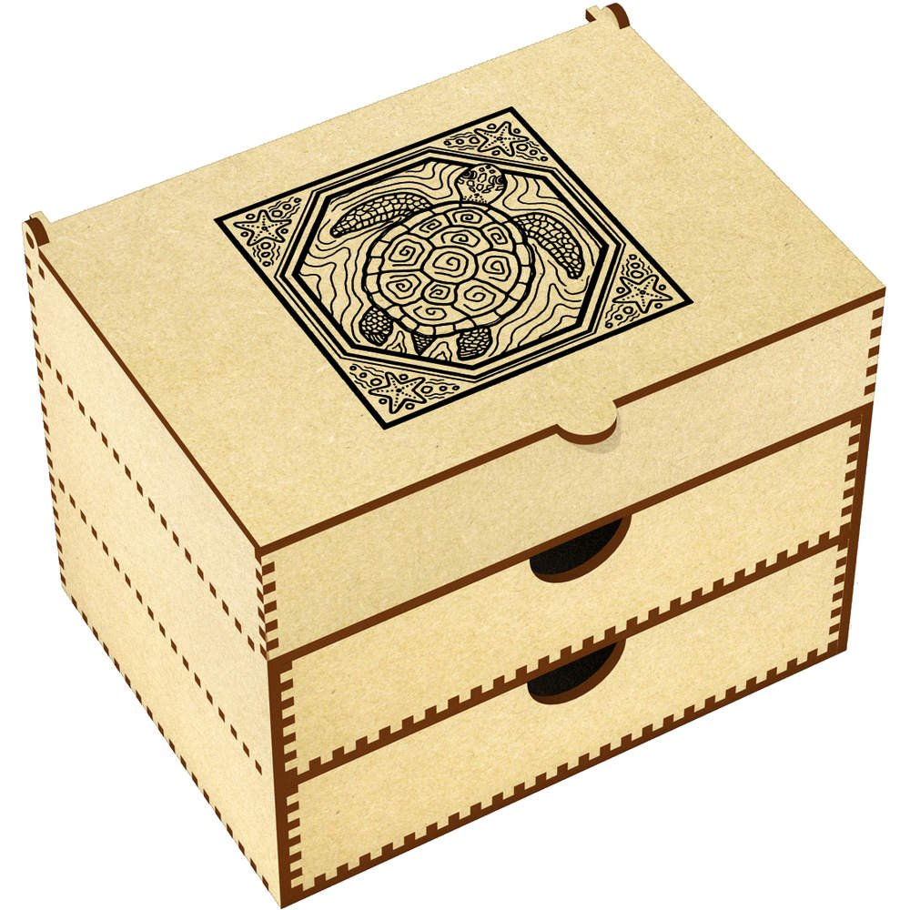 Azeeda 'Sea Turtle Motif' Vanity Case / Makeup Box (VC00004923)