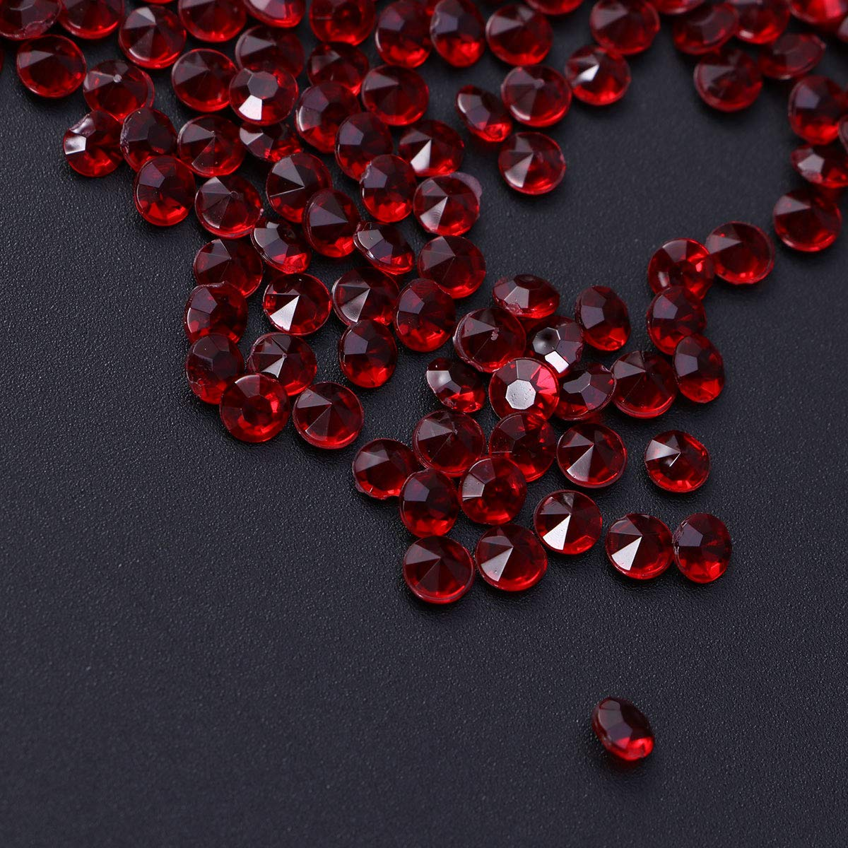 Rot SUPVOX Deko Diamante Kristall Dekosteine Tischdeko Diamanten Hochzeit Streudeko 4,5mm 2000 St/ück