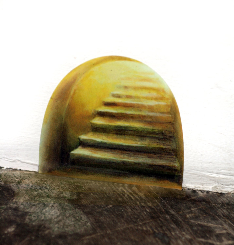 fairy staircase wall sticker fairy door decal amazon co uk handmade