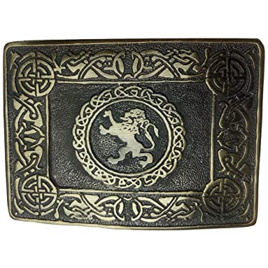 Scottish Kilt Belt Buckle Rampart Lion Antique Finish//Kilt Belt Buckle//kilt