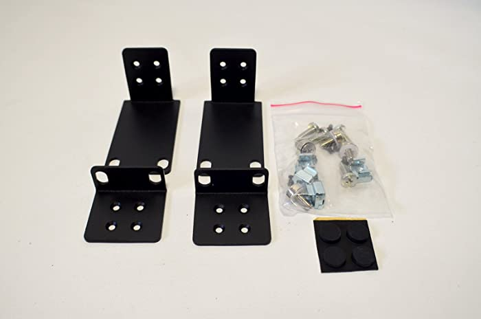 Dell New Genuine OEM PowerConnect 3248 External Case Frame Attachment Performance Metal Bolts Rubber Pads Mounting Rack Bracket Kit CK324